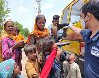 Food Packets Distribution